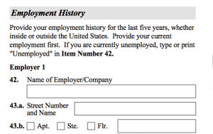 Question 42. Unemployed or Company Name.