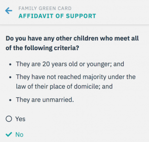 Affidavit of Support: Children
