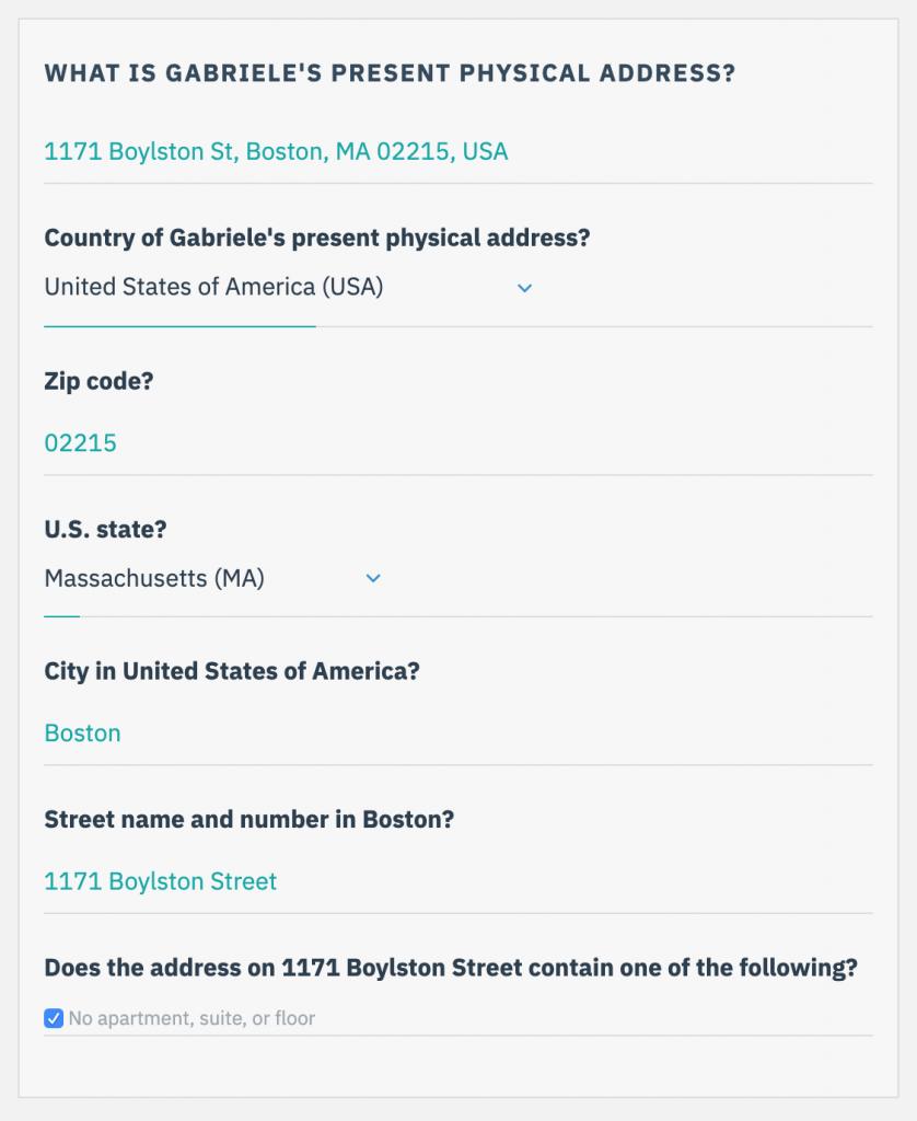 Google Lookup Address Transfer
